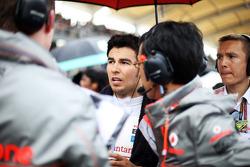 Sergio Perez, McLaren on the grid