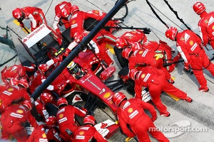 Felipe Massa, Ferrari F138 makes a pit stop