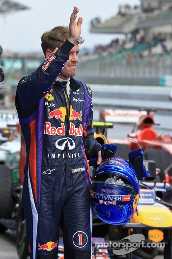 Polesitter Sebastian Vettel, Red Bull Racing RB9