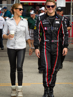 James Jakes, Rahal Letterman Lanigan Racing Honda with his girlfriend