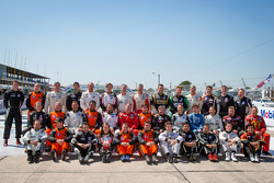 IMSA GT3 drivers for 2013 pose before the race