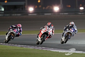 Aleix Espargaro, Aspar Team ART, Randy de Puniet, Aspar Team ART and Andrea Iannone, Pramac Racing Team