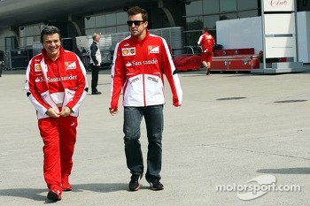 Fernando Alonso, Ferrari with Fabrizio Borra, Personal Trainer