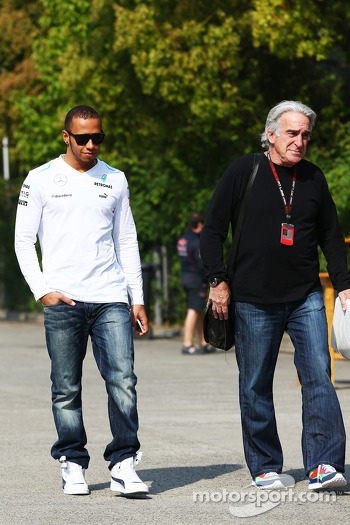 Lewis Hamilton, Mercedes AMG F1 with Tom Shine, Driver Manager