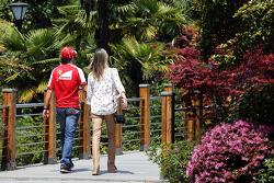 Felipe Massa, Ferrari with his wife Rafaela Bassi