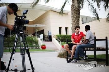 Jules Bianchi, Marussia F1 Team with Sanjeev Palar, FOX Sports / Star Sports Presenter