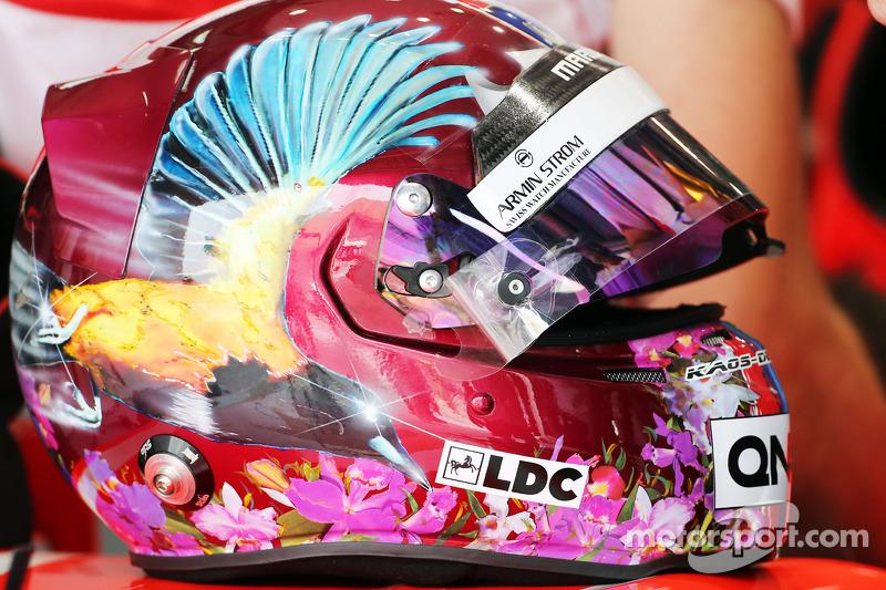 The helm von Rodolfo Gonzalez, Marussia F1 Team