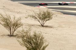 Esteban Gutierrez, Sauber C32 leads Fernando Alonso, Ferrari F138