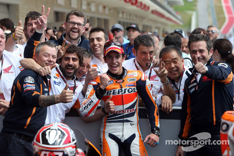 2013: Celebrating a first MotoGP win