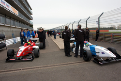F4 Cars line up in the assmebly area