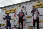 Round 9 podium celebrations with Andrew Jordan, Gordon Shedden and Matt Neal
