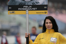 Grid girl of Felix Rosenqvist