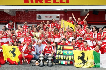 Ferrari celebrate a 1-3 finish for Fernando Alonso, Ferrari and Felipe Massa, Ferrari