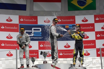 Race winner Stefano Coletti, second place Robin Frijns, third place Felipe Nasr