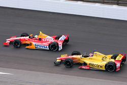 EJ Viso, Team Venezuala/Andretti Autosport/HVM Chevrolet and Carlos Munoz, Andretti Autosport Chevrolet