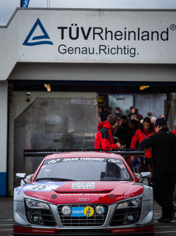 #15 Audi race experience Audi R8 LMS ultra (SP9) at technical inspection