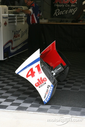 Wing of Conor Daly, A.J. Foyt Enterprises Honda