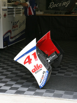 Wing of Conor Daly, A.J. Foyt Enterprises Honda