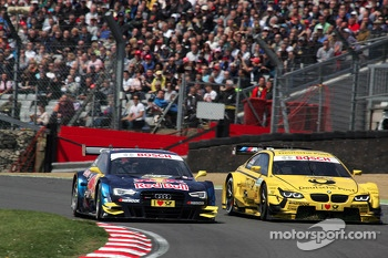 Jamie Green, Audi Sport Team Abt Sportsline Audi RS 5 DTM and Timo Glock, BMW Team MTEK, BMW M3 DTM