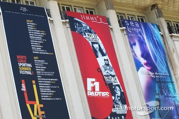 Banners for events in Monaco
