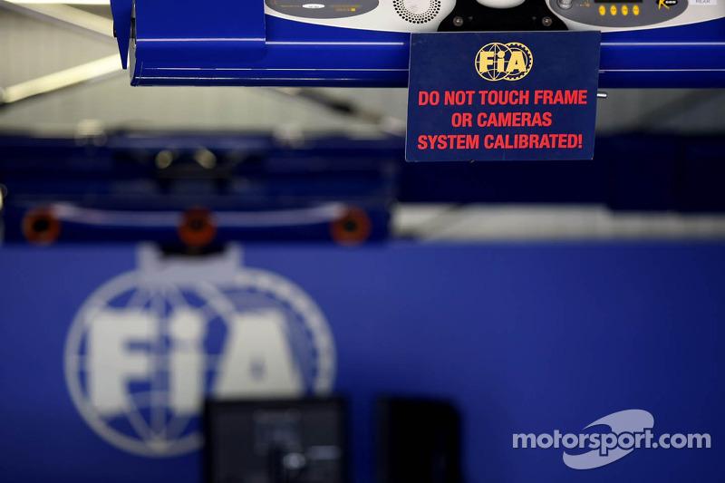 FIA scrutineering area