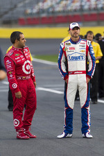 Juan Pablo Montoya and Jimmie Johnson