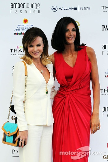 (L to R): Amanda Holden, and Karen Minier, at the Amber Lounge Fashion Show