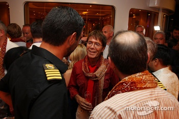Sir Cliff Richard, Pop Star, at the Signature F1 Monaco Party