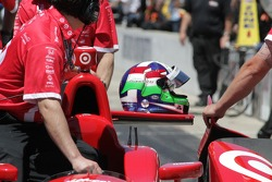 Helmet of Dario Franchitti, Target Chip Ganassi Racing Honda