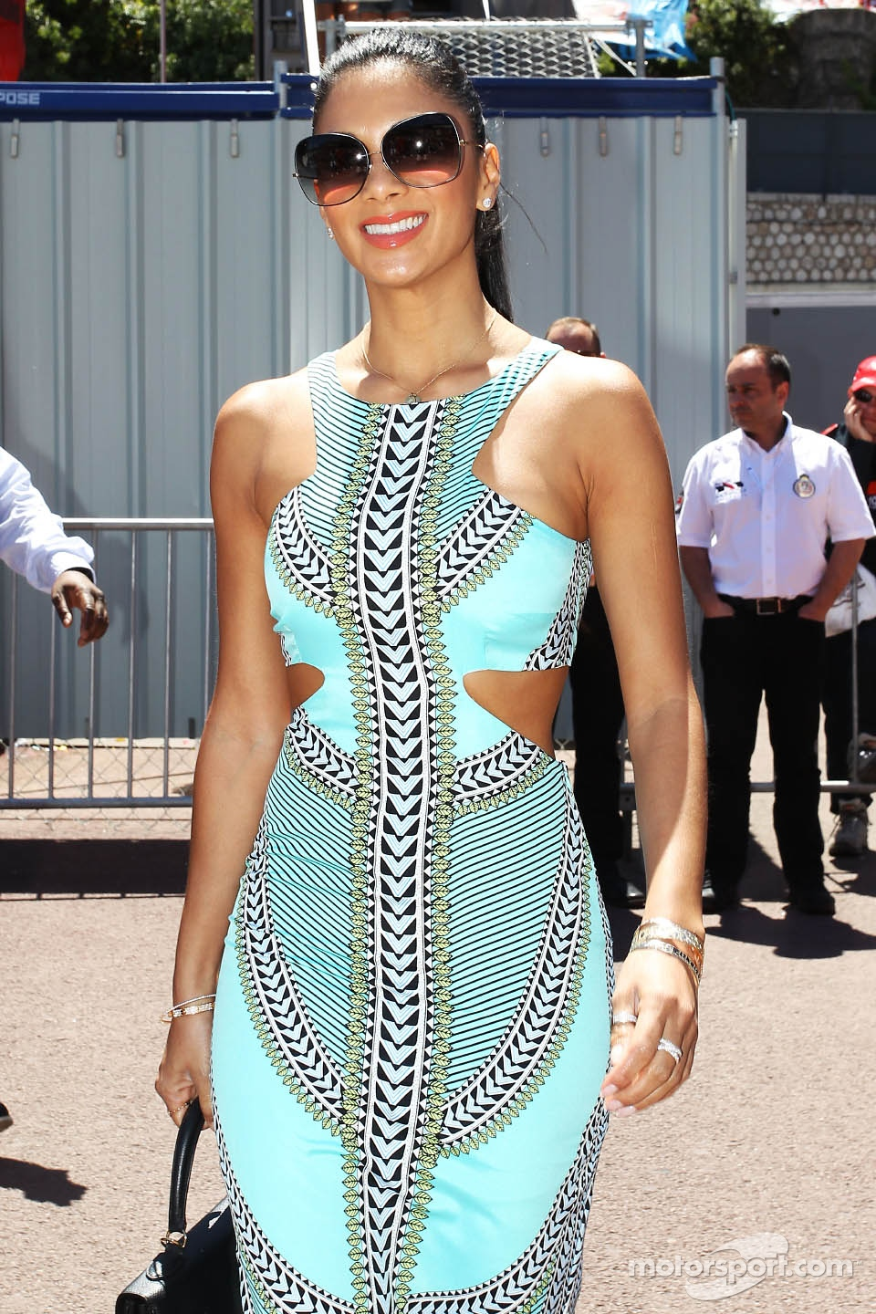 Nicole Scherzinger, Singer, girlfriend of Lewis Hamilton, Mercedes AMG F1