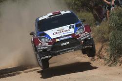 Nasser Al-Attiyah and Giovanni Bernacchini, Ford Fiesta RS WRC, Qatar M-Sport World Rally Team