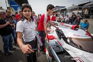 #1 Audi Sport Team Joest Audi R18 e-tron quattro with race engineer Leena Gade