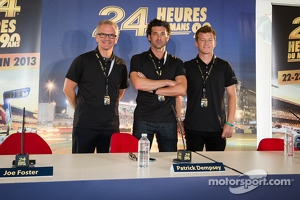 Dempsey Racing press conferece: Joe Foster, Patrick Dempsey and Patrick Long
