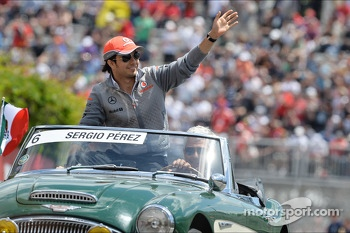 Sergio Perez, McLaren on the drivers parade