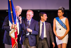 Jim France, Don Panoz, ACO President François Fillon and Miss Le Mans 2013