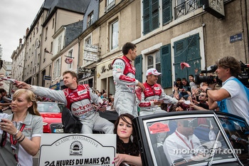 Allan McNish, Loic Duval and Tom Kristensen