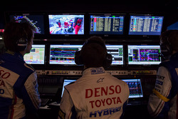 Anthony Davidson watching the telemetry come in during qualification