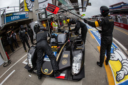 Pit stop for #31 Lotus Praga LMP2 Lotus T128: Kevin Weeda, James Rossiter, Christophe Bouchut