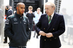 Lewis Hamilton, Mercedes AMG F1 with Sir David Frost (GBR).