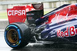 Sensor equipment on the Scuderia Toro Rosso STR8