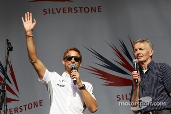 Jenson Button McLaren and Tony Jardine at the post race concert