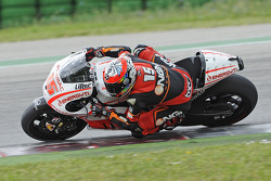 Alex de Angelis tests the Pramac Ducati