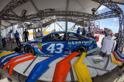 Car of Aric Almirola, Richard Petty Motorsports Ford at technical inspection