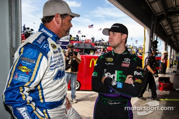 Michael Waltrip, Michael Waltrip Racing Toyota and Denny Hamlin, Joe Gibbs Racing Toyota