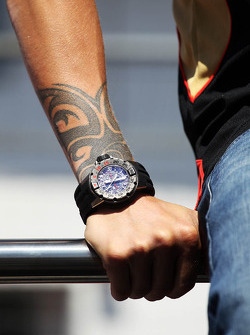 The watch of Kimi Raikkonen, Lotus F1 Team