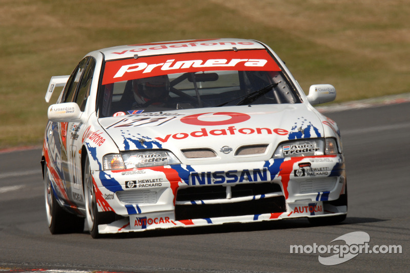 Ex Laurent Aiello BTCC championship winning 1999 Super Touring Nissan Primera driven by James Dodd