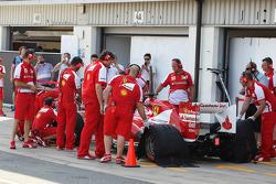 Davide Rigon, Ferrari F2012 Test Driver in the pits