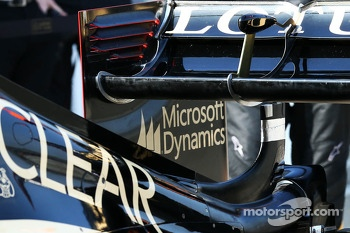 Davide Valsecchi, Lotus F1 E21 Third Driver rear wing detail