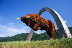 The Red Bull Ring statues