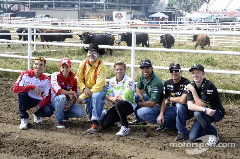 Andrea Dovizioso, Ducati Team and Alvaro Bautista, Go & Fun Honda Gresini visit a rodeo